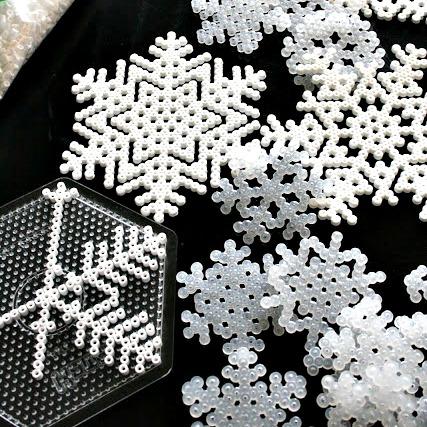 hama-bead-snowflakes
